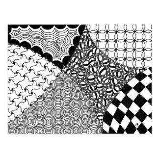 zentangle wervelingen en lijnen wenskaarten