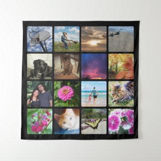Zestien Collage/van de Foto Instagram Rond Wandkleed