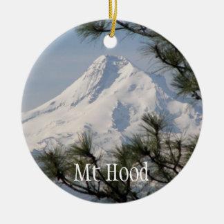 Zet de Foto van de Kap op Rond Keramisch Ornament
