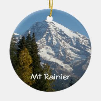 Zet de Regenachtigere Foto van het Uitzicht op Rond Keramisch Ornament