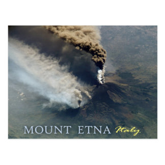 Zet de Vulkanische Uitbarsting van Etna in 2002 op Briefkaart