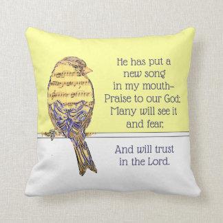 Zet een Lied in mijn Vogel van het Heilige Schrift Sierkussen