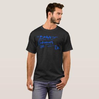Zet het leven Gekrabbeld Inspirerend Citaat voort T Shirt
