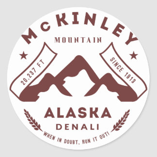 Zet McKinley Denali Alaska op Ronde Sticker