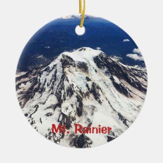 Zet Regenachtiger, Washington, Cascades op Rond Keramisch Ornament