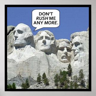 Zet Rushmore op Poster