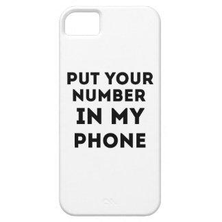 Zet Uw Aantal in Mijn Telefoon Barely There iPhone 5 Hoesje