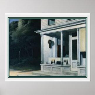 Zeven A.M. door Edward Hopper Poster