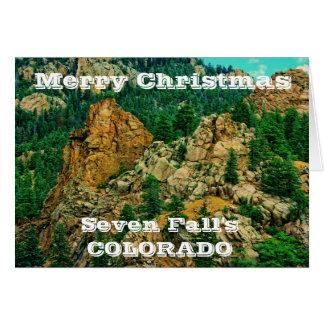 Zeven Wenskaart van Kerstmis van Colorado van de