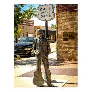 Zich bevindt op de Hoek in Winslow, AZ. Briefkaart