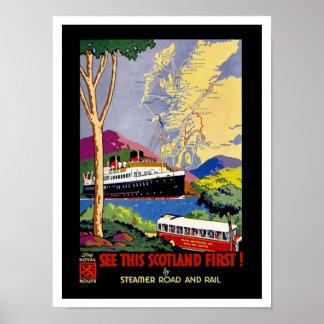 Zie Dit Schotland Eerste! Poster