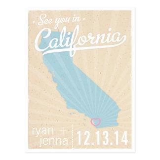 Zie u in Californië sparen het Briefkaart van de