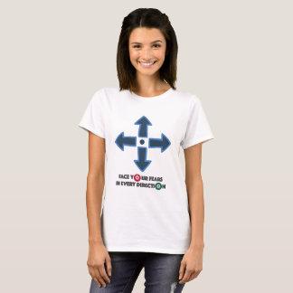 Zie Uw Knoop van de Controle van de Vrees onder T Shirt