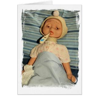 Ziek Doll met Thermometer - word goed Briefkaarten 0
