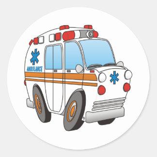 Ziekenwagen Ronde Sticker
