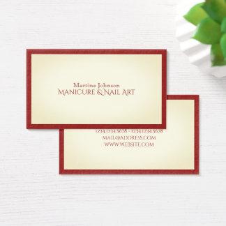 Ziet het elegante modieuze lijst van de elite visitekaartjes