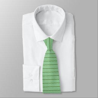 zigzag patroon helemaal over groen ontwerpbord - eigen stropdassen