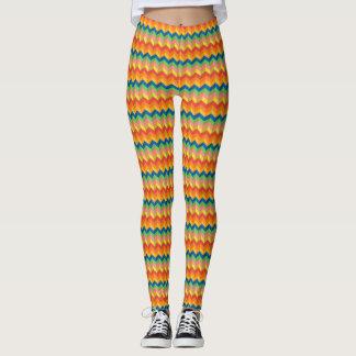 zigzag streep leggings