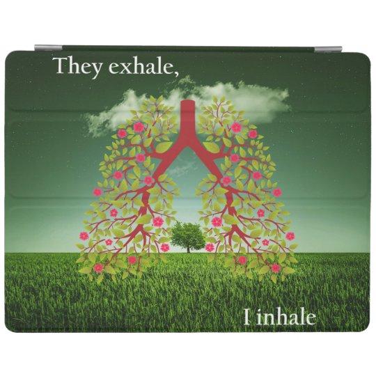 Zij ademen uit, inhaleer ik iPad cover