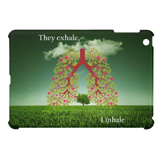 Zij ademen uit, inhaleer ik iPad mini case