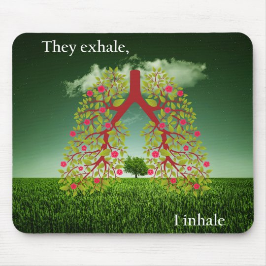 Zij ademen uit, inhaleer ik muismat