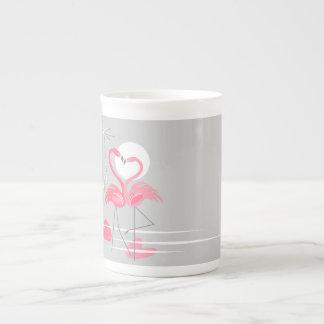 Zij de mokbeen China van de Liefde van de flamingo Theekop