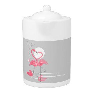 Zij de theepotmiddel van de Liefde van de flamingo