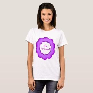Zij duurde Paarse en Roze Bloem verzet zich tegen T Shirt