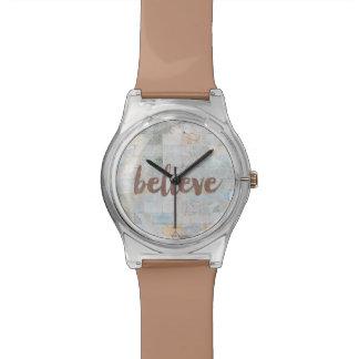 Zij geloofde Horloge Graffiti