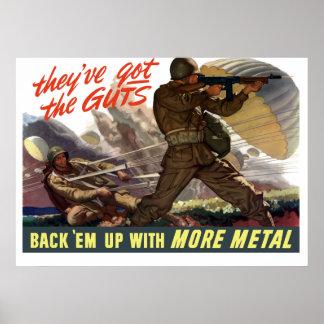 Zij hebben de Ingewanden -- WW2 Poster