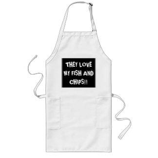 """""""Zij houden van mijn vis met patat """" Lang Schort"""