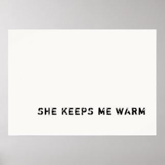 zij houdt me warm poster