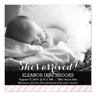 Zij is de Roze Aankondiging van het Baby van