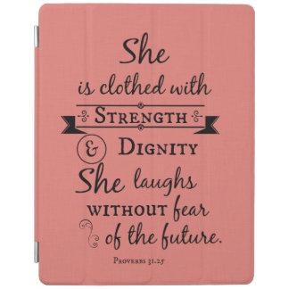 Zij is Gekleed in het Vers van de Bijbel van de iPad Cover