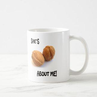 zij is noten over me koffiemok