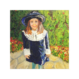 Zij koos Haar Eigen Uitrusting van Pasen Stretched Canvas Afdrukken