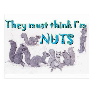 Zij moeten denken ik noten ben briefkaart
