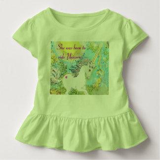 Zij was geboren om Eenhoorns te berijden! Kinder Shirts
