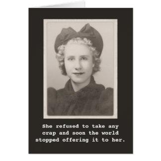 Zij weigerde om om het even welke crap Vintage Kaart