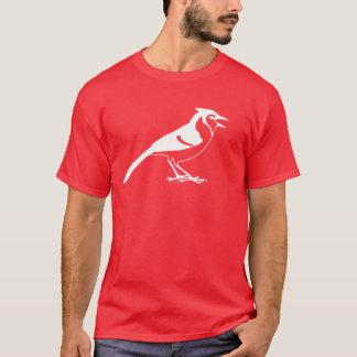 Zijaanzicht van een Blauw Silhouet van de Vogel T Shirt