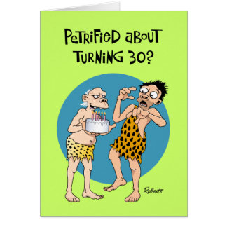 Zijn 30ste Verjaardag Wenskaart