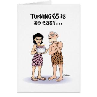 Zijn 65ste Wenskaart van de Verjaardag