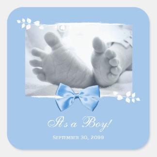 Zijn een Aankondiging van de Geboorte van het Baby Vierkante Sticker