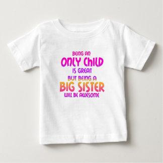 Zijn een Enig Kind is Groot, Paars Baby T Shirts