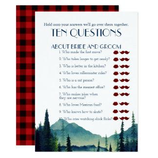 Zijn en Haar Spel van het Huwelijk van Tien Vragen Kaart