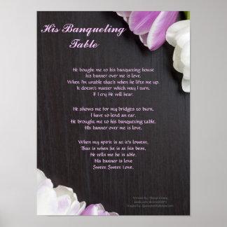 Zijn Lijst Banqueting… Geschreven door: Cheryl Poster