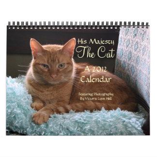 Zijn Majesteit de Kalender van de Kat 2012