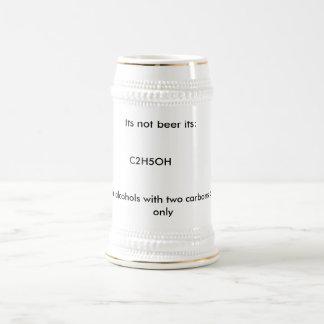 Zijn niet zijn bier: , C2H5OH, die waarschuwen: Bierpul