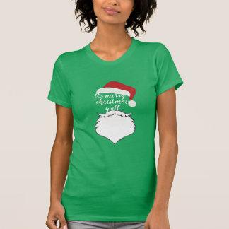 zijn vrolijke santa van de de vakantiepartij van t shirt