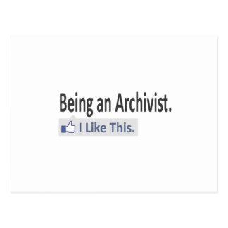 Zijnd een Archivaris… houd ik van dit Briefkaart